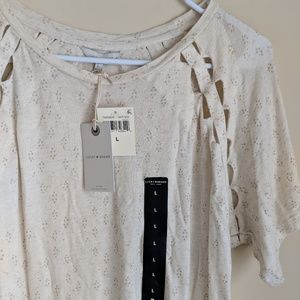 Lucky Brand | NWT cut out tee shirt